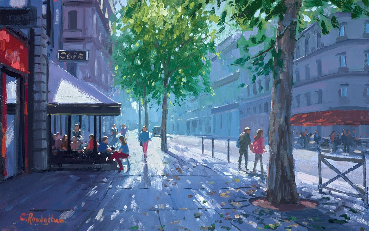 Boulevard de Saint Germain, Summer Light by charles rowbotham -  sized 15x9 inches. Available from Whitewall Galleries